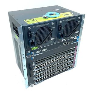 Cisco WS-C4507R Catalyst 2x1300W PSU 1x WS-X4597 FAN 1x WS-X4515 4x WS-X4148-RJ