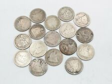 Lot Of 17 Silver Liberty Seated Us 25C Quarters 1846 1853 1876 + Other 10353-2