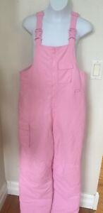 Cherokee Girls Pink Winter Zip Up Bib Overall Snow Pants Size XL