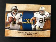 2011 TOPPS FIVE STAR ROOKIE CAM NEWTON MARK INGRAM DUAL AUTO PATCH BOOK #2/15