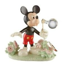Disney Lenox Mickey`s Backyard Bubbles Figurine NEW in Gift Box