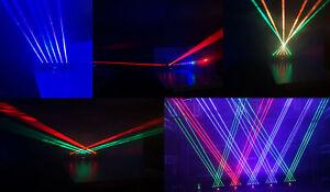 RGB-Laser Bar - 6x1000 mW RGB Fat Beam Laser - DMX 512 - NEU,11/26/38 DMX Chanel