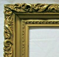 "2 ANTIQUE FITS 8.75"" X 11.75""  GOLD GILT DEEP ORNATE WOOD FRAME ART VICTORIAN"