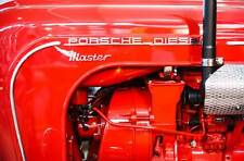Leinwand Bild Porsche Diesel Traktor Master Rot Oldtimer Motor Abstrakt Bilder