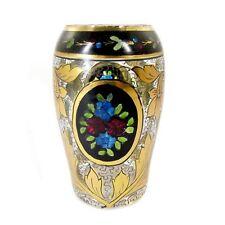 Kleine Vase mit Transparent- und Goldmalerei, Julius Mühlhaus in Haida