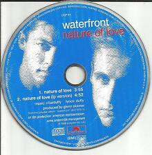 Chris Duffy WATERFRONT Nature of love EDIT PROMO CD Single Water Front 1989 MINT