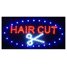 Barber Shop Beauty Salon Hair Cut Color Style LED Open pole Business Sign neon