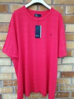BRAND NEW FRED PERRY Men's Polo TOP Tee Shirt RED Cotton size XXL RRP£85