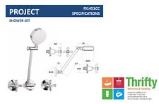 Novelli Project Shower Set Chrome Cross Handles Builders Choice