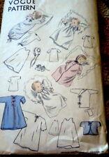 LOVELY VTG 1950s INFANTS LAYETTE VOGUE Sewing Pattern
