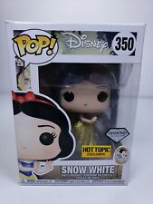 Hot Topic Snow White Diamond Collection Funko Pop #350 with Pop Protector