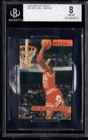 BGS 8 MICHAEL JORDAN 1989 Basketball Magnetables Chicago HOF ULTRA RARE NM-MINT