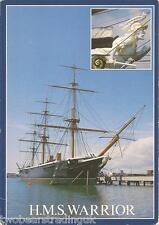 Postcard: HMS Warrior At HM Naval Base, Portsmouth, Hampshire (1980s)
