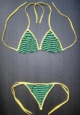 Sexy G-STRING BIKINI Green Black Yellow Swimming Costume Ladies Swimwear Thong