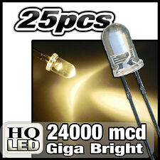 484/10# LED 5mm Blanc chaud 22000mcd 10pcs + résistance