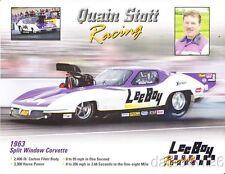 2012 Quain Stott Lee Boy '63 Chevy Corvette Pro Mod ADRL IHRA NHRA postcard