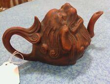 Antique chinese dragon head teapot 19th century )))RARE(((