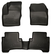 Husky Liners Front & 2nd Row Black Floor Liners For 2013-18 Ford C-Max Escape