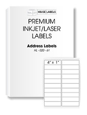 2000 Sheets 40000 Labels 1 x 4 Fast Peel White Address Mailing Labels 20 UP