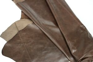 BROWN DISTRESSED LEATHER - Cowhide leather/ 10 Square Foot Avg/ 2.5 oz-3 oz