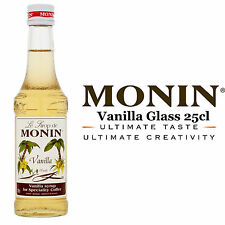 Monin Coffee Syrups - VANILLA - 25cl Glass Bottle - AS USED BY COSTA COFFEE