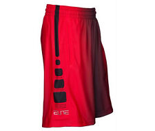 NIKE ELITE STRIPE + BASKETBALL SHORTS MENS SIZE LARGE NWT RED BLACK 718375 NEW