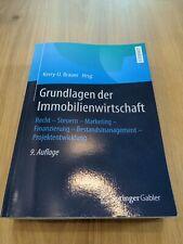 Grundlagen der Immobilienwirtschaft 9. Auflage Springer Gabler