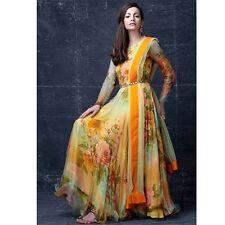 Indian Pakistani Ethnic  Anarkali Salwar Kameez  Designer Suit Bollywood Dress
