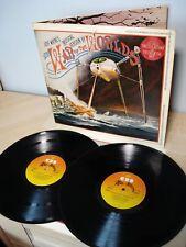 Jeff Wayne War Of The Worlds + Booklet UK 2 x LP CBS 96000 1978 EX/EX+
