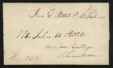 1838 US Stampless folded letter w/Free P.M. Fabius manuscript pmk to Schenectady
