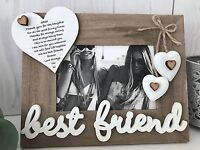 Personalised Best Friend Photo Frame Gift Keepsake Christmas Birthday F37
