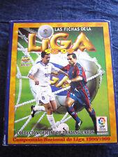 ALBUM LAS FICHAS DE LA LIGA 98 99. TRADING CARDS 1998/1999. MUNDICROMO FUTBOL
