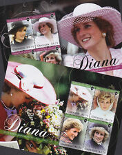 Grenada 2011 Mint MNH 2 Minisheets Princess Diana Anniversary Birth Flowers Hats