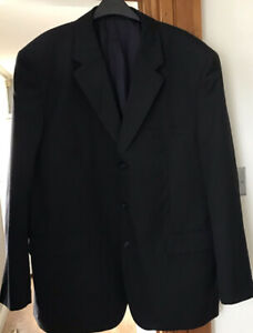 """MOSS FOUNDED 1898 MENS NAVY PINSTRIPES BLAZER 48"""" IMMACULATE CONDITION"""