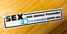 SEX MIT DEINE FREUNDIN GEFÄLLT DAS Aufkleber Sticker LIKE Fun Spaß Auto FB Mi368