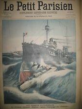 CROISEUR CUIRASSé KLEBER EXPLOSION GAZ Bd SEBASTOPOL LE PETIT PARISIEN 1905