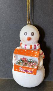 "Dunkin Donuts SNOWMAN Christmas Ornament 3"""