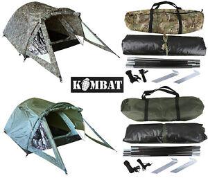 Combat Elite 2 Man Person Tent Bivi Army BTP Camo Olive Cadet Festival Camping