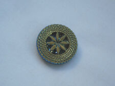 Vintage Black Glass Button with bright lustre Item 294