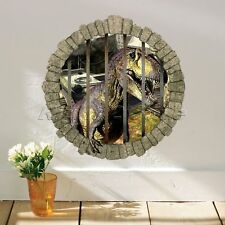 Removable 3D Dinosaur Cage Wall Decals Stickers Art Mural Kids Room Home Decor