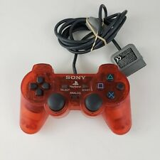 Official Sony Playstation 1 RARE NEON RED SCPH-1200 Dualshock Controller OEM