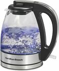 Glass Electric Tea Kettle, Water Boiler & Heater, 1 L, Cordless, LED Indicator photo
