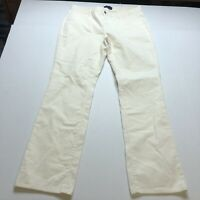Talbots Signature Fit Straight Leg Cream Corduroy Pants Sz 14 New A1382