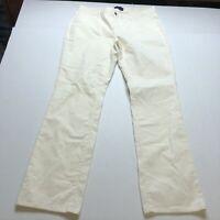 Talbots Signature Fit Straight Leg Cream Corduroy Pants Sz 14 New A1382