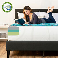 BCP 12in Medium-Plush Green Tea & Bamboo Charcoal Gel Memory Foam Mattress