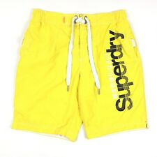 393eb6ee764 Superdry Yellow Board Shorts Swim Trunks Surf Beach Swimwear H2O Sport Mens  XL