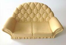 Pedigree Vintage Sindy Doll Cream 2 Seater Sofa 1980's Living Room Furniture