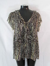 Joie Paisley Cayden Blouse M Silk Blouse Sheer Chiffon Top