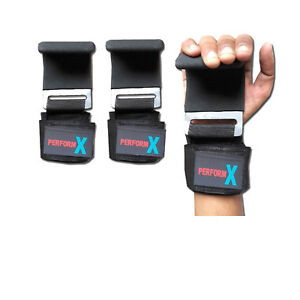 Perform X Weight Lifting Hooks  Training Fitness Grip Straps Quality Hook