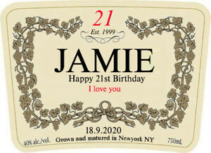 PERSONALISED HENNESSY BOTTLE LABEL - PARTY / BIRTHDAY / WEDDING OCCASION